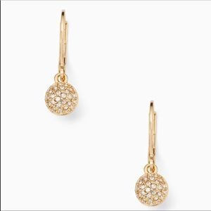 New Kate Spade Drop Earrings in Gold!
